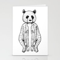 pandas Stationery Cards featuring Pandas by Benson Koo