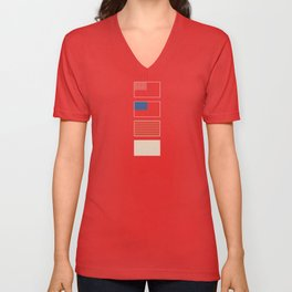 Stars & Stripes Deconstructed Unisex V-Neck