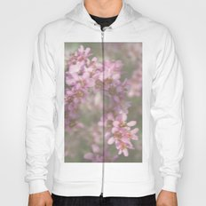 Abstract Pink and Green Flowers Hoody
