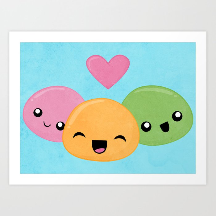 Mochi Love Art Print
