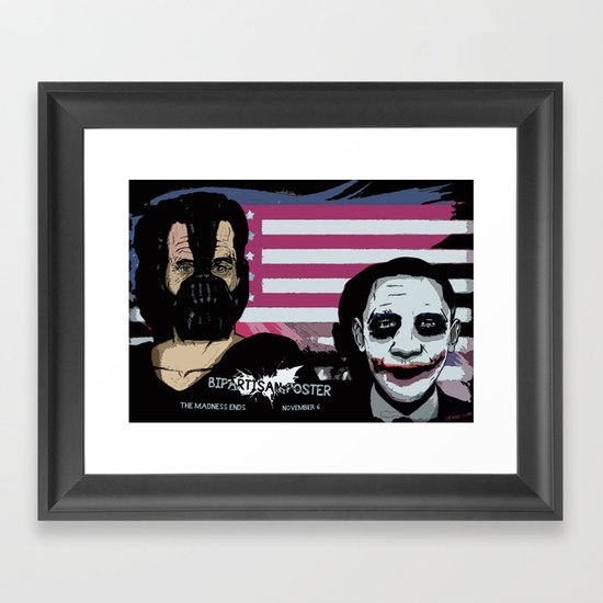 Bright Bipartisan Poster Framed Art Print