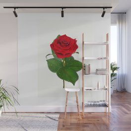 Single Standing Rose (Red) Wall Mural