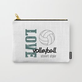 Love Volleyball Street Style Carry-All Pouch