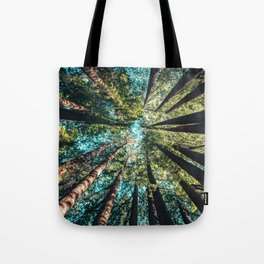 Treetop green blue Tote Bag