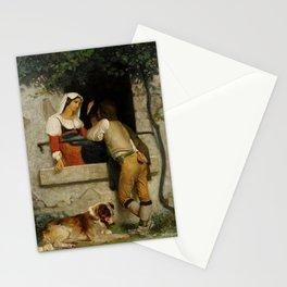 "William-Adolphe Bouguereau ""Italian lovers"" Stationery Cards"