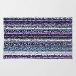 Purple Lavender Teal Carpet Texture Rug