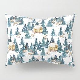 Winter village Pillow Sham