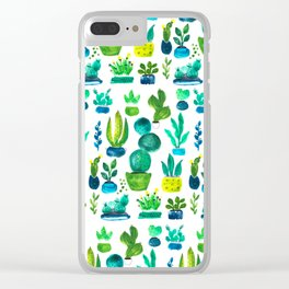 Cactus collection Clear iPhone Case