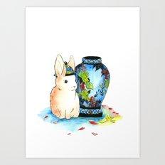 Lapin Chinoiserie Art Print