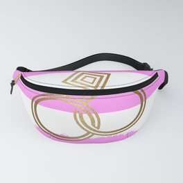 Romantic Gold Wedding Rings Fanny Pack