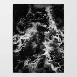 Waves III - Black and White Poster