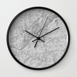 Limoges Pencil City Map Wall Clock