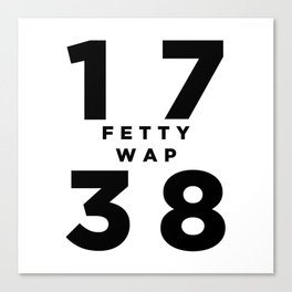 1738 Fetty Wap Canvas Print