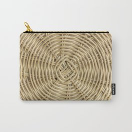 Rattan wickerwork texture Carry-All Pouch