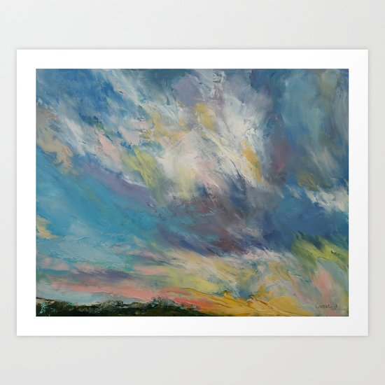 Clouds at Sunset Art Print