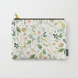 Botanical Spring Flowers Carry-All Pouch