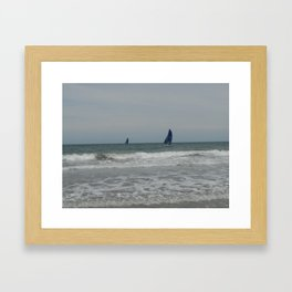 Great day for sailing! Framed Art Print
