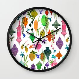 Lanterns Wall Clock