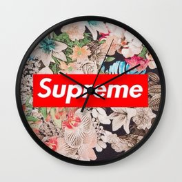 supreme flower Wall Clock