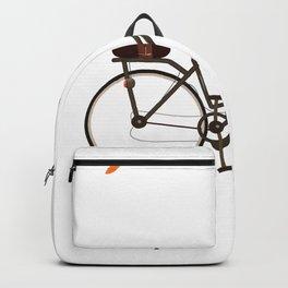 Cycling cartoon poster Backpack