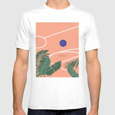 Basketball Breeze MEDIUM White Mens Fitted Tee