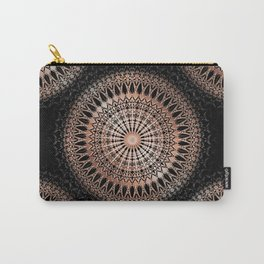 Rose Gold Black Mandala Carry-All Pouch