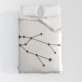 Gemini Star Sign Black & White Comforters