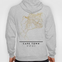 CAPE TOWN SOUTH AFRICA CITY STREET MAP ART Hoody