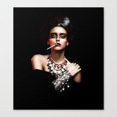 Lady Smoke Canvas Print