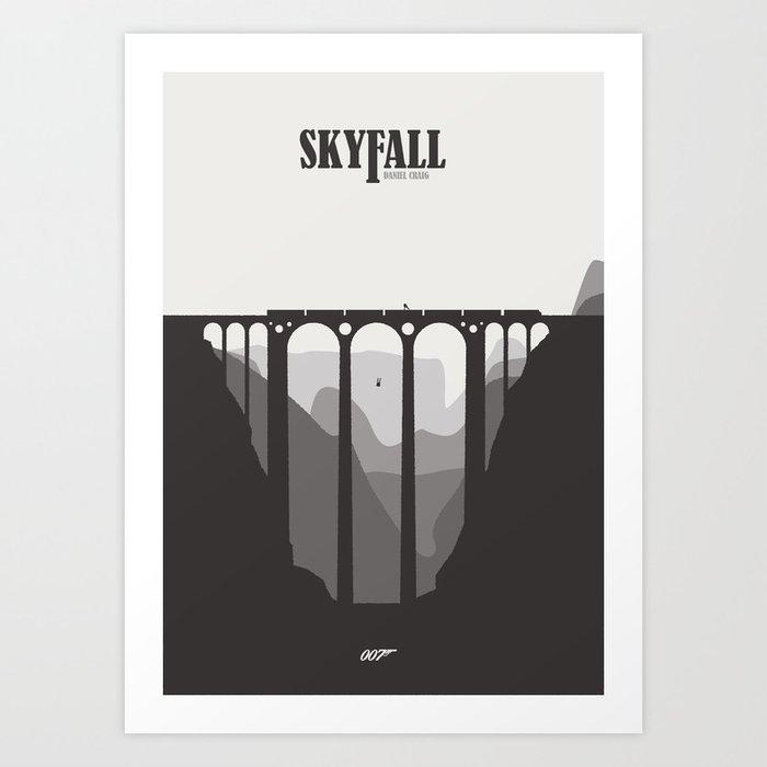 Skyfall - minimal poster Art Print