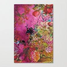 Silk Pink Floral Canvas Print