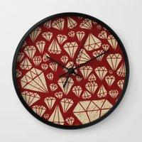 diamond Wall Clocks featuring diamond by Landon Sheely