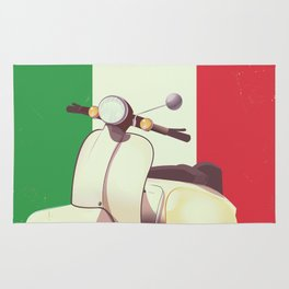 Italia Scooter vintage poster Rug