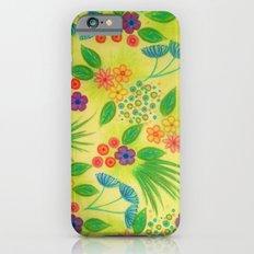 WILDFLOWER FANCY 3 - Cheerful Fresh Green Lovely Floral Garden Pattern Girly Feminine Trendy Flowers Slim Case iPhone 6s