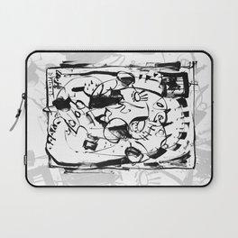 Caged Bird - b&w Laptop Sleeve