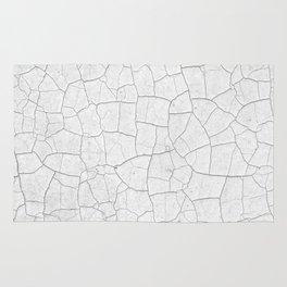 Cracks (Black and White) Rug