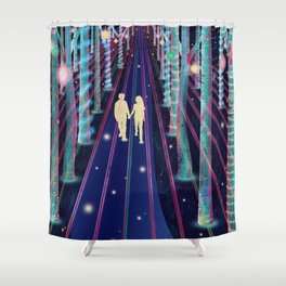 Walking in the Magic Forest Shower Curtain
