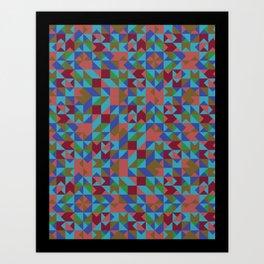 Geopaper Art Print