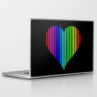 techno Laptop & iPad Skins featuring Techno Love by JG Designs