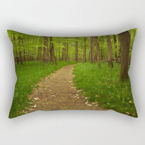 Walk in the Woods II Rectangular Pillow
