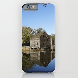 Old Mill reflecting in a pond iPhone Case