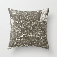 london map Throw Pillows featuring London Map by Zeke Tucker