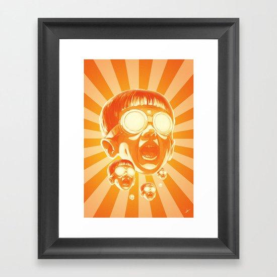 Big Fireee! Framed Art Print