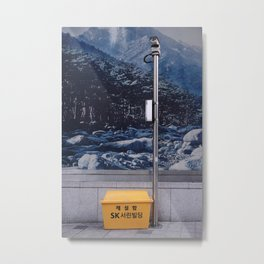 Spying Mountains Metal Print