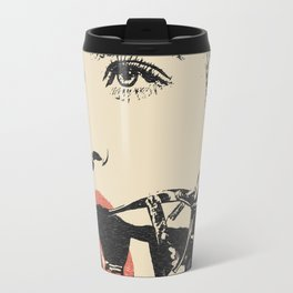 Talking heads, there is always way to change that, BDSM erotic artwork, gagged beauty portrait Travel Mug