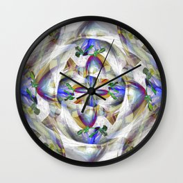 A Day Lily Gone Wild Wall Clock