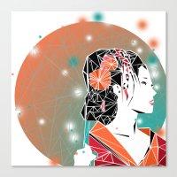 geisha Canvas Prints featuring GEISHA by ARCHIGRAF