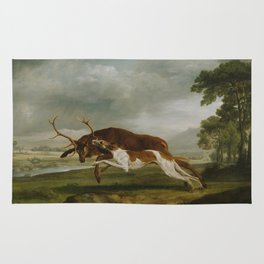 George Stubbs  -  Hound Coursing A Stag Rug