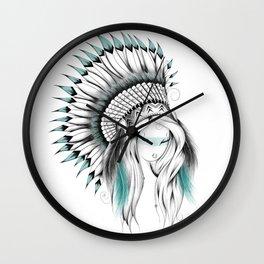 Indian Headdress Wall Clock