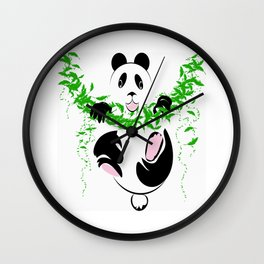 THE PANDA is a symbol of gentleness and strength. it is an auspicious symbol of peace, harmony Wall Clock
